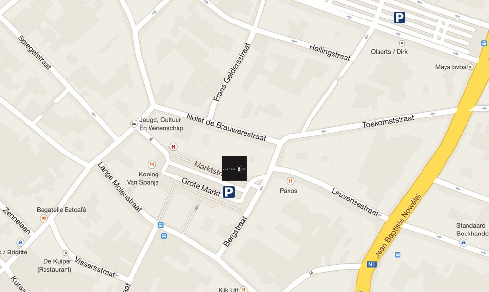 Map parking in Vingerhoets-Optics Vilvoorde
